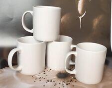 Set of 4 NEW PLAIN WHITE MUGS tea coffee MUG CUP KITCHEN - 300 ml