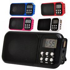 Mini Speaker Digital Portable MP3 Music FM Player Micro SD/TF USB Disk w/ light