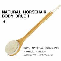 Pferd Haar Holz Bad Dusche Körper Rücken Trockene Haut Bürste Freizeit eNwrg