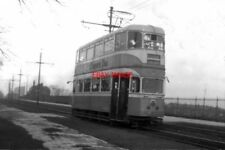 PHOTO  1960 GLASGOW TRAMS A 'CUNARDER' AT MOSSPARK GLASGOW CONTINUED TO BUILD TR