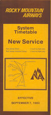 Rocky Mountain Airways system timetable 9/7/83 [5054] Buy 2 get 1 free