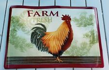 Set of 4 Kitchen Vinyl NON CLEAR Placemats FARM FRESH Chicken Home Collection