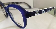 CHANEL Authentic Lady's Eyeglass 3299- Plastic Blue Design Temps, CHANEL Logo