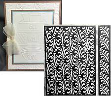 Cuttlebug Embossing folders Anna Griffin FEATHER ILLUSIONS embossing folder set