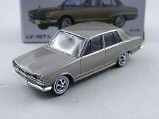Nissan Skyline 2000gt'71 en argent, Tomica Tomytec Limited vintage lv-167b,1/64