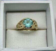 A very nice 9ct Gold Green Quartz And Diamond Ring