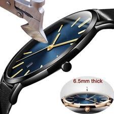 Fashion Men's Leather Sport Casual Analog Quartz Wrist Watch Business Watches