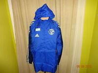 """FC Schalke 04 Adidas Spieler Wind- Regenjacke """"Victoria Versichert"""" Gr.M- L"""