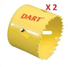 DART Lot: 2 Premium Cobalt Bi-Metal Holesaw DPH020 & DPH025 HSS 20 & 25mm NEW