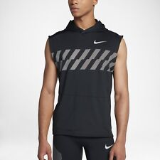 fb493e0717bb7b Nike Sleeveless Running Hoodie Training Black Reflective Singlet Dri-Fit XL