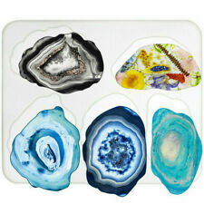 Agate Coaster Resin Casting Mold Silicone Making Epoxy Mould Tool Craft DIY Clay