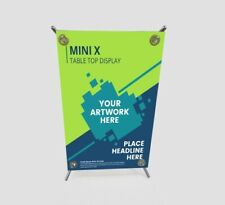 Mini X Table Top Display Trade Show Display Counter Top Banner Stand 8 X 12