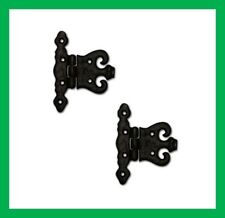 "Black Antique Cast Iron Unequal Hinge 4"" x 3"" Pair (1495)"