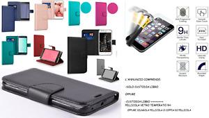 Custodia x Huawei NOVA SMART /Honor 6C Cover LIBRO STAND portafoglio CARD+ VETRO