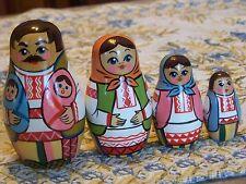 Byelorussian family -russian nesting dolls-4 pcs,4'',new