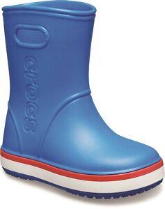 Crocs Bambini Crocband Stivali da Pioggia da Infilare Wellington Blu Medio