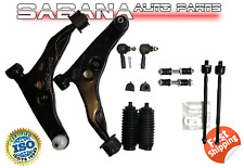Front Suspension Control Arms Tie Rod and Links Kit For Mitsubishi Mirage 97-02