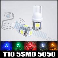 BOMBILLA LED COCHE T-10 W5W 5 SMD 12V Blanca Azul Amarilla Roja Verde