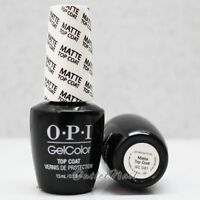 OPI GelColor MATTE TOP COAT GC 031 Soak Off UV Gel Nail Polish 0.5 oz >>Ship 24H