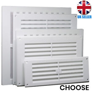 CHOOSE White LOUVRE/HIT & MISS AIR Vents Brick Wall Ventilation Grille Air Cover