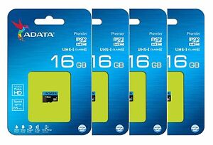 ADATA 16GB 16G Micro SD HC Class 10 TF Flash SDXC Memory Card Mobile New Pack 4