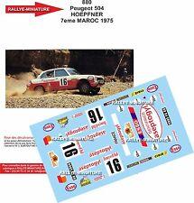 DECALS 1/24 REF 880 PEUGEOT 504 HOEPFNER RALLYE DU MAROC 1975 RALLY