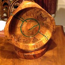 Handmade Large oak Spalted Bowl with Matching Stand