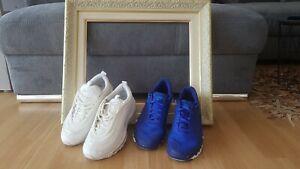 EU Größe 41 - Nike Air Max 97 Triple White + Nike Training Blau