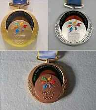 1998 Nagano Olympic Medals (Gold/Silver/Bronze) & Ribbons & Display Stands !!!