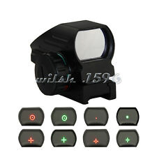Tactical Hunting Holographic 4 Type Reticle Reflex Red Green Dot Sight 11mm Rail
