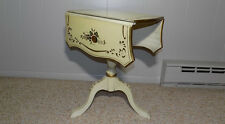 rotating drop leaf tea table Ethan Allen or Hitchcock ? stenciled side end rare