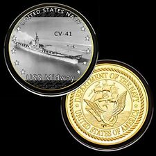 us navy USS Midway  (CV-41) GP Challenge pinted Coin