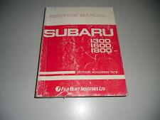 Werkstatthandbuch Manual Subaru 1300 1600 1800 11/1979