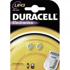 Piles jetables alcalins Duracell pour équipement audio et vidéo LR43