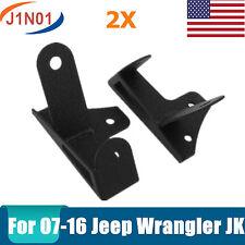 2X Steel Mount Corner Bracket For  2007-2016 Jeep Wrangler JK LED FOG Light Bar
