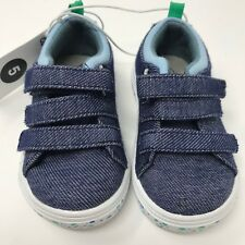 Cat and Jack Toddler Boy Girl Size 5 Canvas Shoes Sneakers Dark Denim Blue NWT