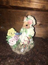 Priscilla Hillman Mouse Tails  MARY MARY QUITE CONTRARY Figurine 1995 ENESCO