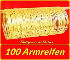 100 Bollywood Armreifen Orient Sari Bauchtanz Filigran♥Ø 6,5 cm Goldfarbe
