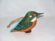Holzvogel EISVOGEL handgeschnitzt mit Aufhängung neu. Holz Vogel Vögel Holzvögel