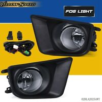 Left + Right Fog Lights Bumper Lamps w/ Switch For Toyota Tacoma 2012-2015
