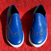 Damen ECHT LEDER Ballerinas Slipper ANDREA CONTI Royal Dunkel Blau Schuhe Gr. 35