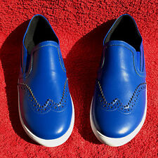 Damen ECHT LEDER Ballerinas Slipper ANDREA CONTI Royal Blau Schuhe Gr. 36 NEU