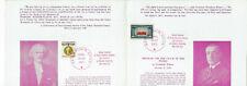 Assoc. Polish Phil. in Ct commem. folder-Wilson/Paderewski w/ stamps (Pj7