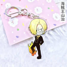 Hot Japan Anime ONE PIECE Vinsmoke Sanji Acrylic Key Ring Pendant Keychain Gift