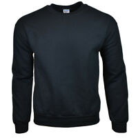 GILDAN Men's Sweatshirt - Crew Neck - Heavy Blend - Black - Size: M