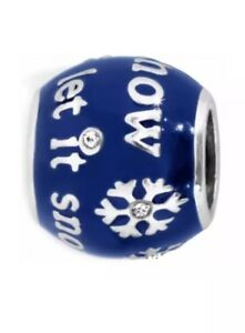 New Brighton Let It Snow Bead Blue Snowflake Winter Bead