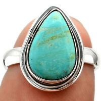 Natural Turquoise Nevada Aztec Mt 925 Sterling Silver Ring Jewelry s.6.5 6915