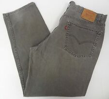 Levis Mens 550 Relaxed Fit Gray Jeans 40x32 40/32 FREE SHIPPING 560