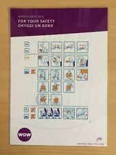 WOW air (Iceland) Airbus A320 Neo Safety Card