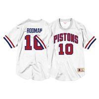 Dennis Rodman Detroit Pistons Mitchell & Ness Men's Mesh Crew Neck Jersey